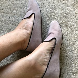 J Crew Blush Suede Shoes